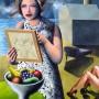 IVÁN ARAUJO Lección de dibujo, 2011.  Técnica mixta y collage sobre papel, 73,5 x 55 cm.  p.v.p: 2100 € + IVA =  2541 €