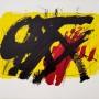 ANTONI TÀPIES Clau-14, 1973. Serie: La Clau del Foc Litografía. 45 x 62 cm Edición 75 + 10 HC. Ejemplar HC (No disponible)