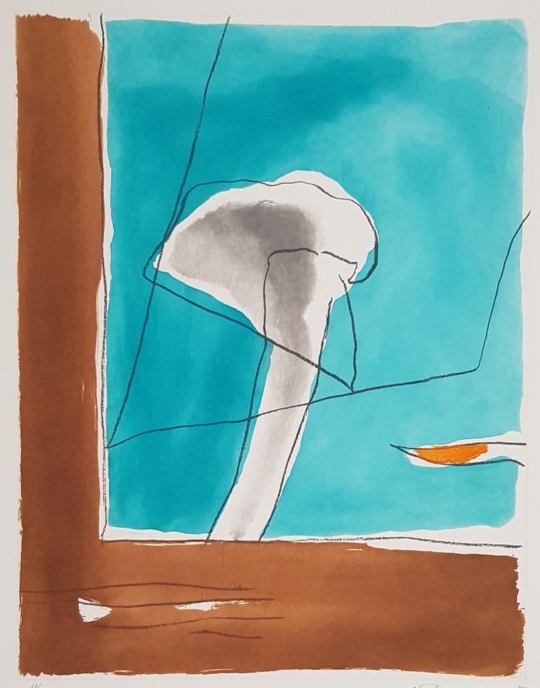 Albert Ràfols-Casamada, Brisa-1, 1993, grabado al aguafuerte y aguatinta, 77 x 57 cm. Edición: 60 ejemplares