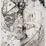 Ahmed Benyoucef, dibujo a tinta sobre papel, 2019, 69,5 x 42 cm, p.v.p.: 220 €