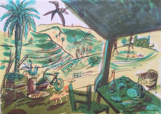 JAVIER MARISCAL, litografía original firmada a mano y numerada 22/60, 50 x 70 cm, pvp 400 € (sin marco) 495 € (enmarcada)